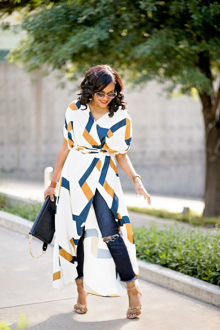 CLOSET REMIX, SHOP YOUR CLOSET, SHEIN GEOMETRIC PRINT MAXI DRESS, TORY BURCH CLUTCH, STEVE MADDEN FRINGE SANDALS, SEVEN JEANS, HOW TO SHOP YOUR CLOSET, DALLAS BLOGGER, BLACK FASHION BLOGGER