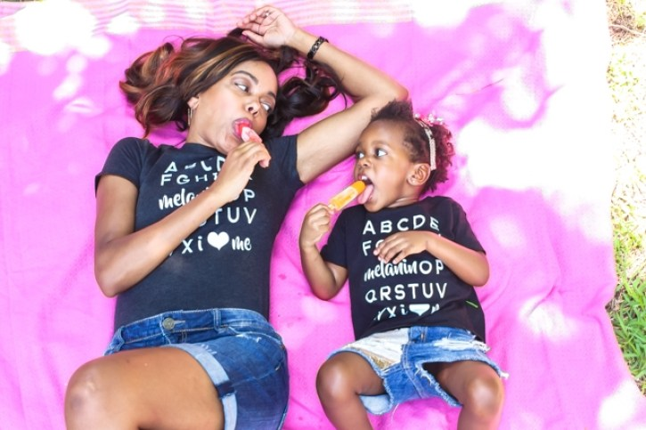 shopsophistishe, melanin tee shirt, melanin op t-shirt, black owned business, kids melanin t-shirt, mommy and me t-shirt, affirmation t-shirt, graphic tee, how to wear graphic tee, mommy and me tee