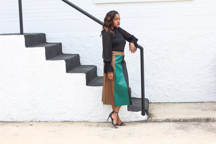 who what wear collection, who what wear target, who what wear leather color block skirt, fall style inspiration, fall outfit inspo, what to wear to work fall, leather skirt, dallas blogger, african american blogger, fashion blogger