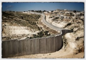 The wall separating The West Bank from Israel