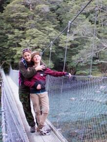 My Son & I crossing Greenstone River