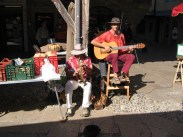 Two more buskers... my son loved listening to the guitarists we heard around the market!