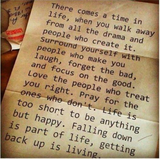 getting back up is living