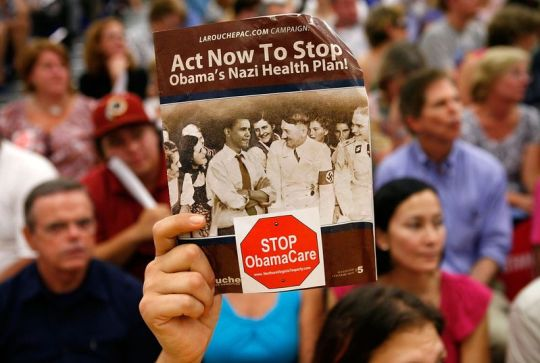 Fierce protests over end-of-life care broke out at 2009 congressional town hall meetings.