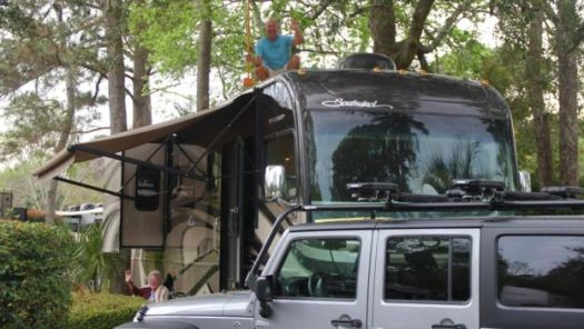 The family travelled more than 13,000 miles in their motorhome
