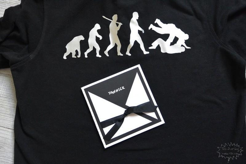 cadeaux de fin d'année Prof de Judo T-shirt et carte (1)