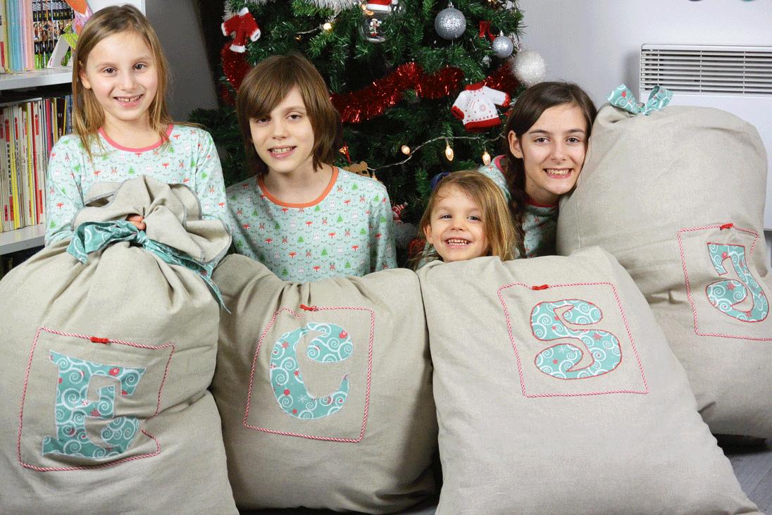 Hottes pour cadeaux de Noël