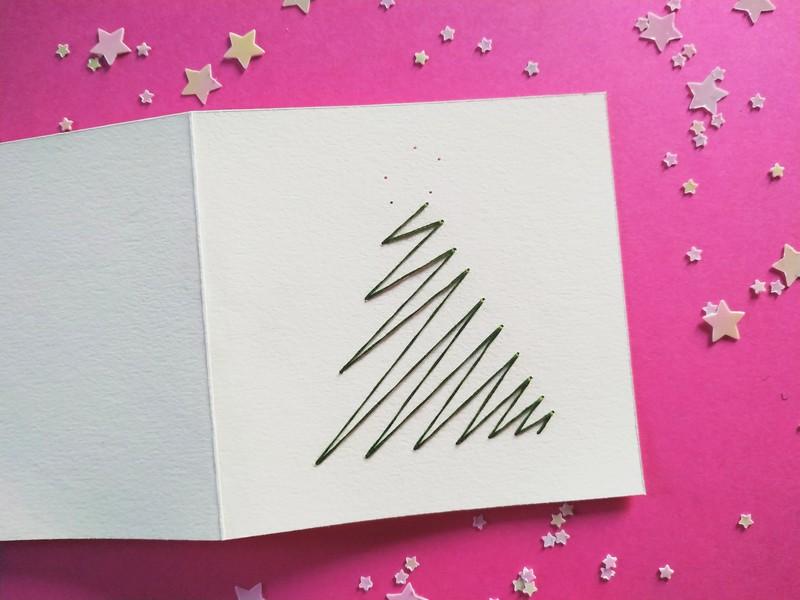 Broder une carte de vœux