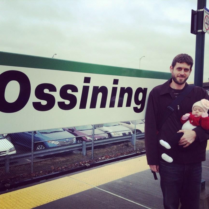 Margot's first train ride.