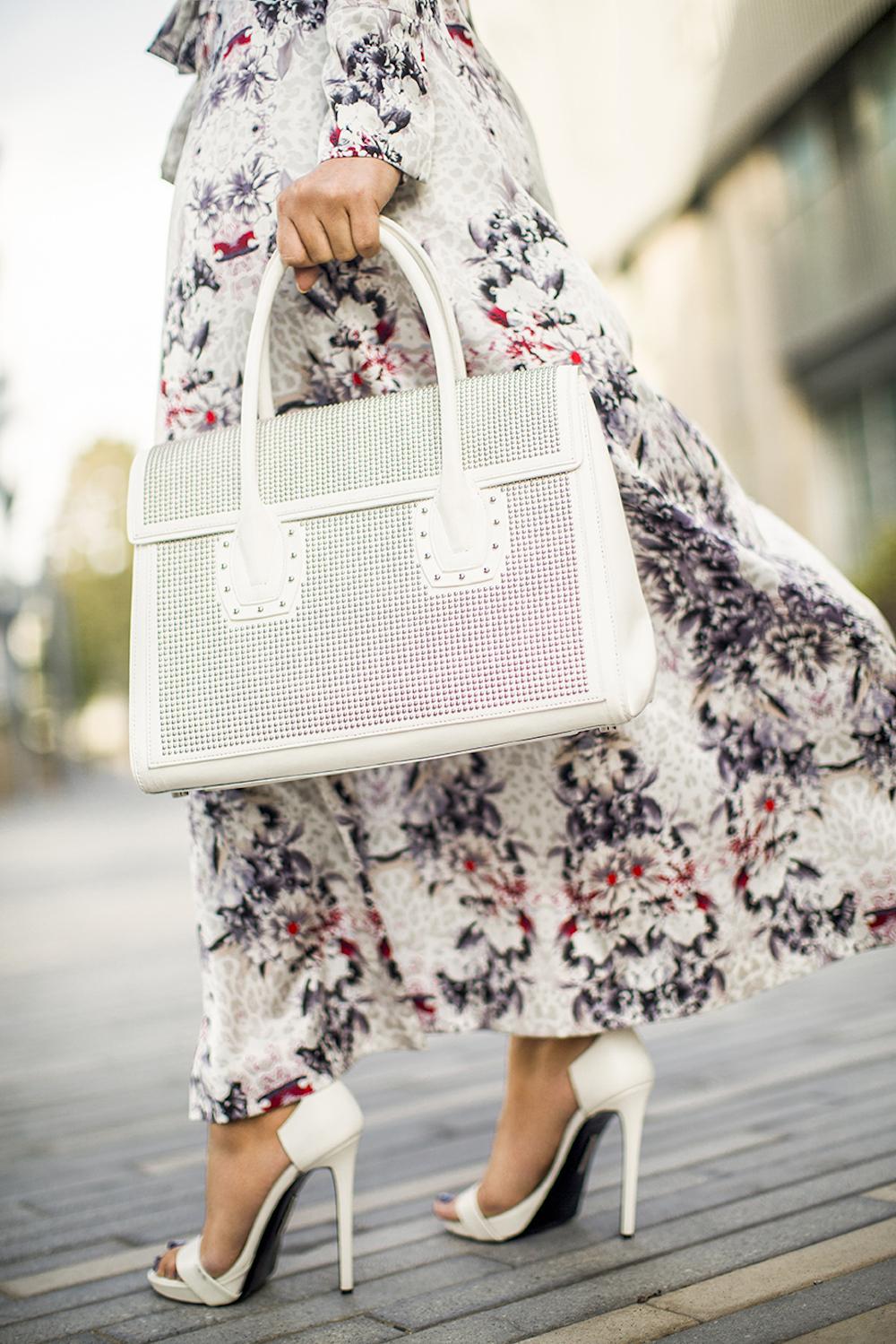 bag and heels closeup