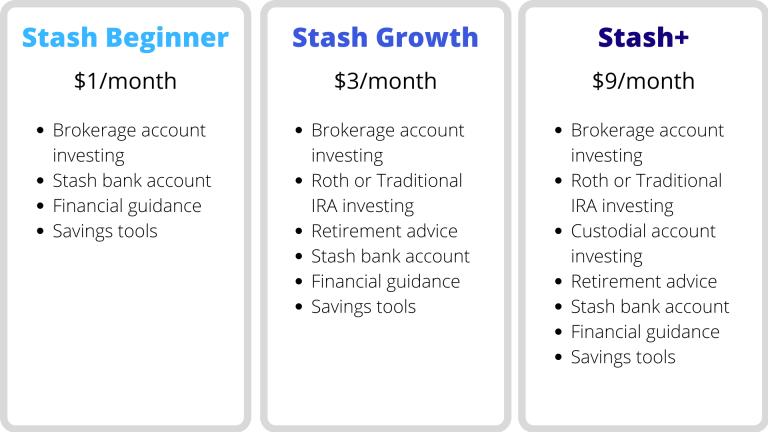 Stash investing app plans