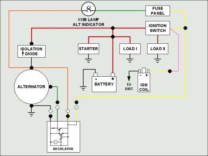 jeep motorola alternator wiring diagram  process flow