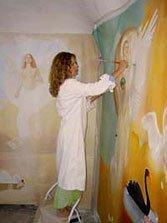 Donna Sheratan, angels, Positano, artist