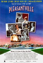 Pleasantville, black and white, Gary Ross, Reese Witherspoon, small-town life, 1950s, TV