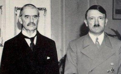 Obama, Neville Chamberlain, Adolph Hitler, George Bush: different matrix, different priorities.