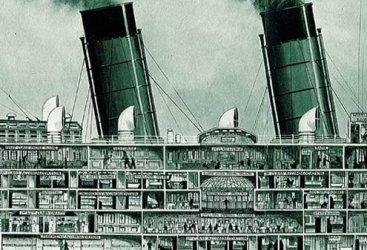 RMS Mauritania cutaway.