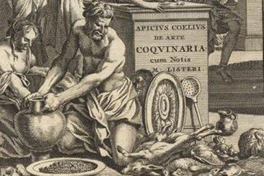Marcus Gavius Apicius at work, from a 16th century print.