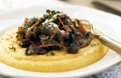For good polenta, simmering is the key.