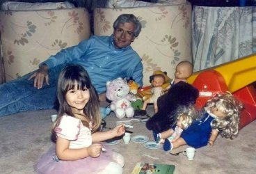 I forced my father through endless tea parties and imaginary dinners.