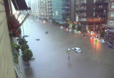 Flooding in October 2011.