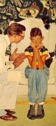 """Detail from """"The Facts of Life"""" by Norman Rockwell."""