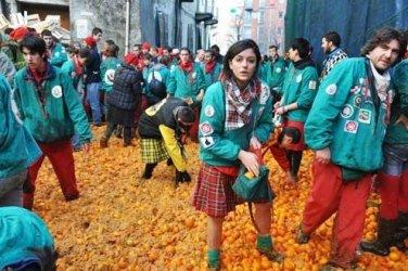 Ivrea's Battle of the Oranges takes no prisoners.