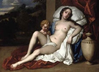 Nell Gwyn (1651-1787) with her son Charles Beauclerk, by Sir Peter Lely (1618-1680).