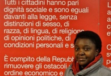 "Spokesperson of the association ""March First,"" which works to promote the rights of migrants in Italy."