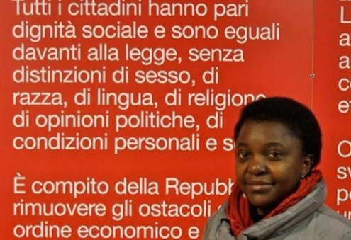 """Spokesperson of the association """"March First,"""" which works to promote the rights of migrants in Italy."""