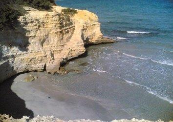 Beach in Conca Specchiulla, north of Otranto.