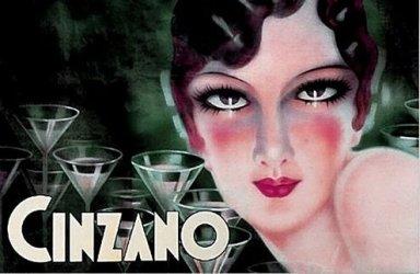 Italian deco posters are dominated by Campari and Cinzano.