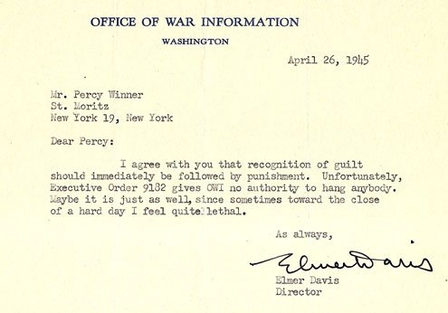 Davis was instrumental in pushing OWI overseas.