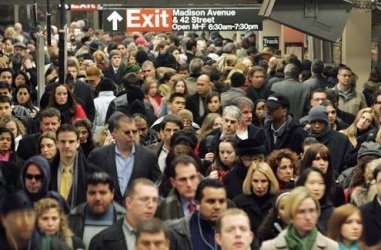 Commuters near the city's Madison Avenue station.