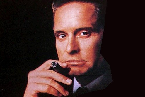 Michael Douglas played the part of a Wall Street banker.