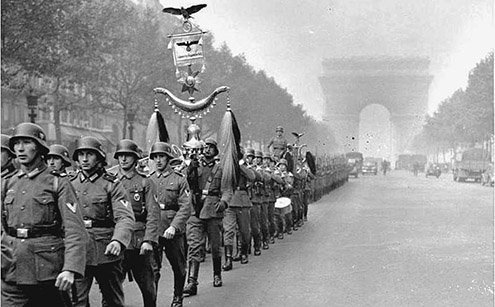 France was politically divided, opening the door to Nazi Germany.