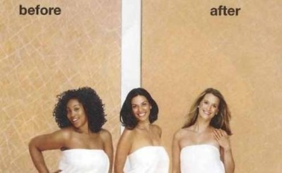 "The ""before"" and ""after"" was deemed offensive."
