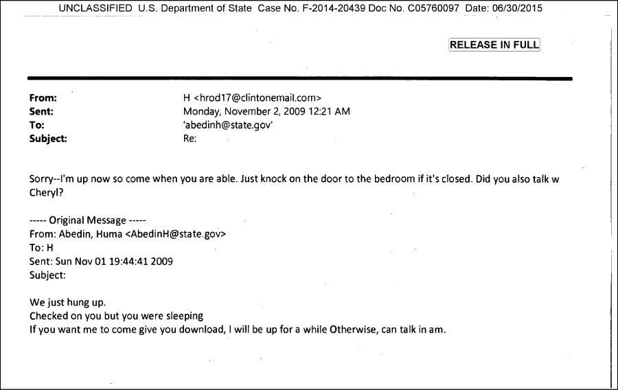 Hillary Huma sleeping