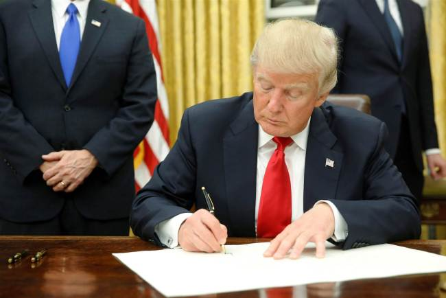 Trumps signs Exec Order