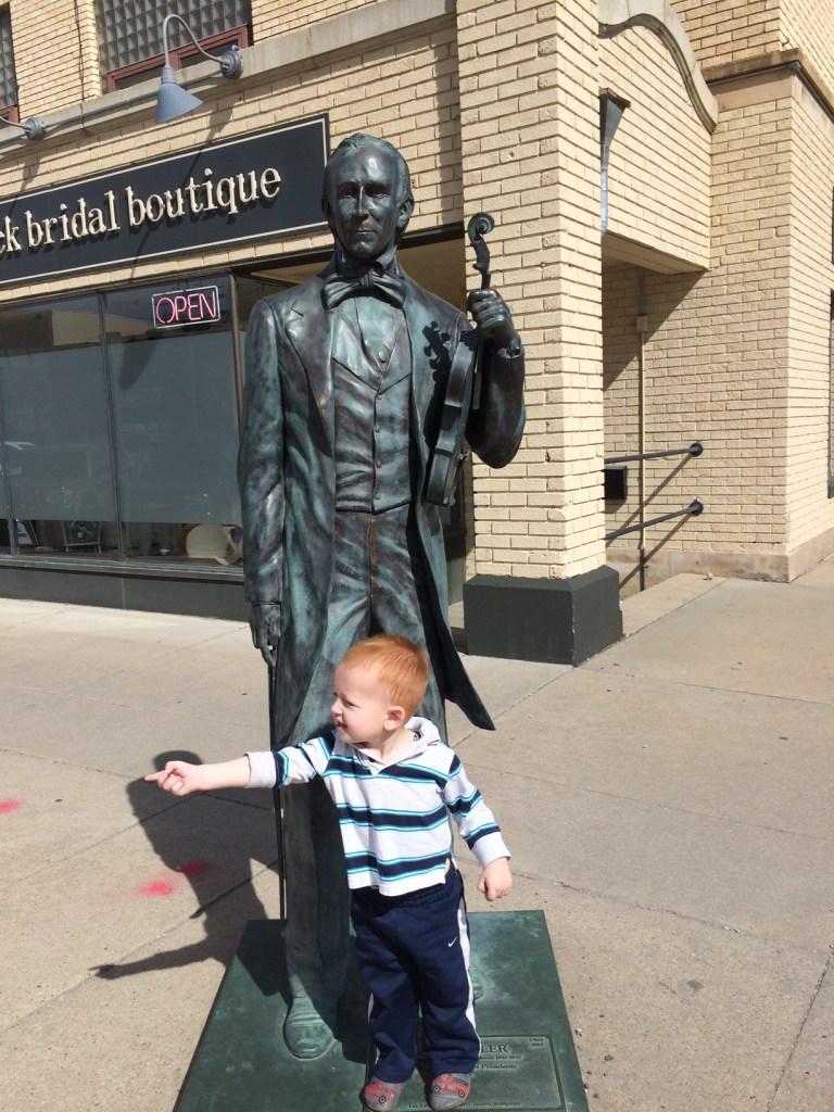 President Tyler statue