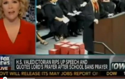Valedictorian rips-up speech and recites the LORD's Prayer