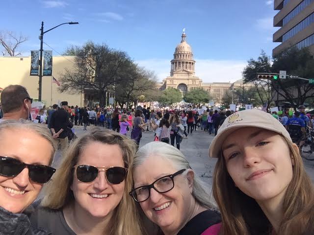 women's march mom tia rosie amy