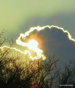 sunshine behind cloud