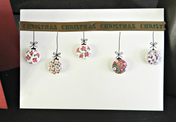 handmade Christmas Cards buttons