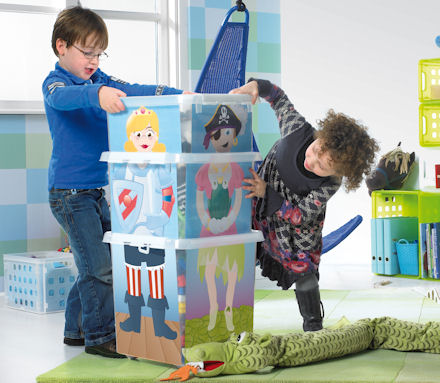 toy storage, stacking, princess, pirate