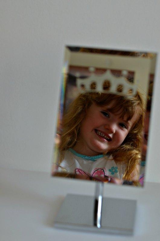 DIY Princess crown on a mirror