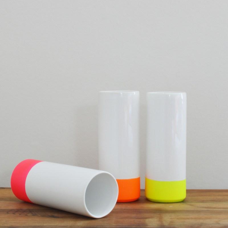 Dip dye neon vase