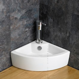 corner space saving basin from click basin