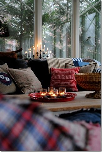 Cozy living room set up