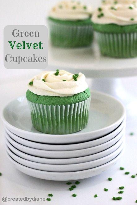 St Patrick's Green Velvet Cupcakes