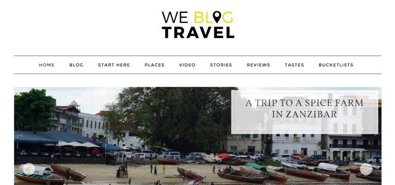 We Blog Travel Screen Shot